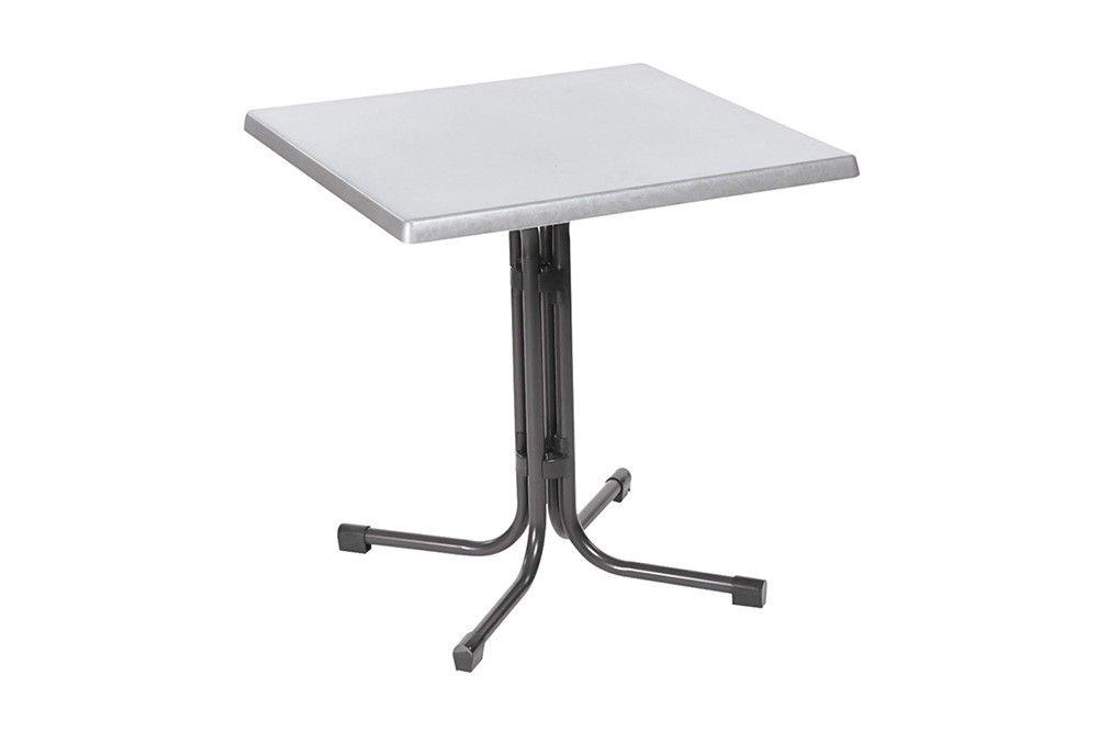 Összecsukható bisztró asztal 70x70cm antracit-inox (topalit)