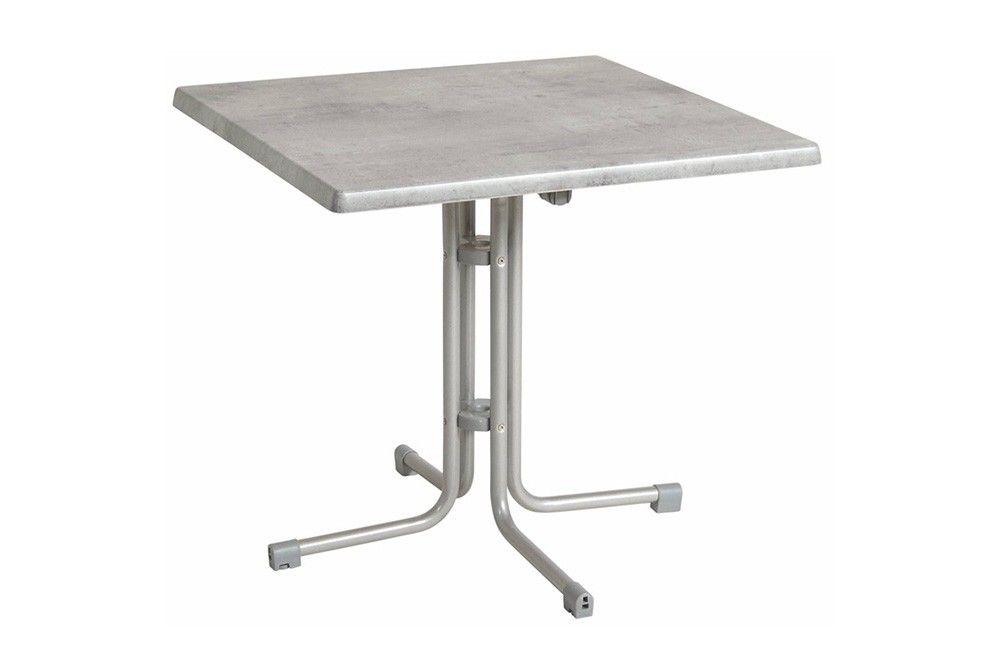 Összecsukható bisztró asztal 70x70cm platina-cementszürke (topalit)