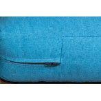 Raklapbútor párna szett kék vízlepergető cipzáras huzattal