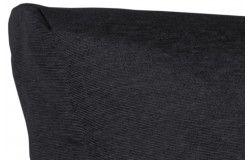 Raklapbútor párna szett fekete vízlepergető cipzáras huzattal